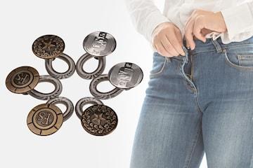 Knappförlängare för byxor 6-, 12-, eller 18-pack