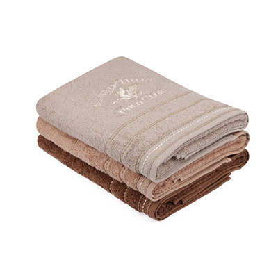 Brun/Beige, Bath Towels, 3 Pieces, Badehåndkle, 3 stk,  (1 av 1)