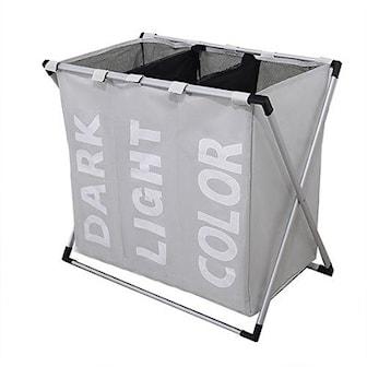 Beige, Foldable Laundry Bag, 7 Colors, Sammenleggbar skittentøyskurv, ,