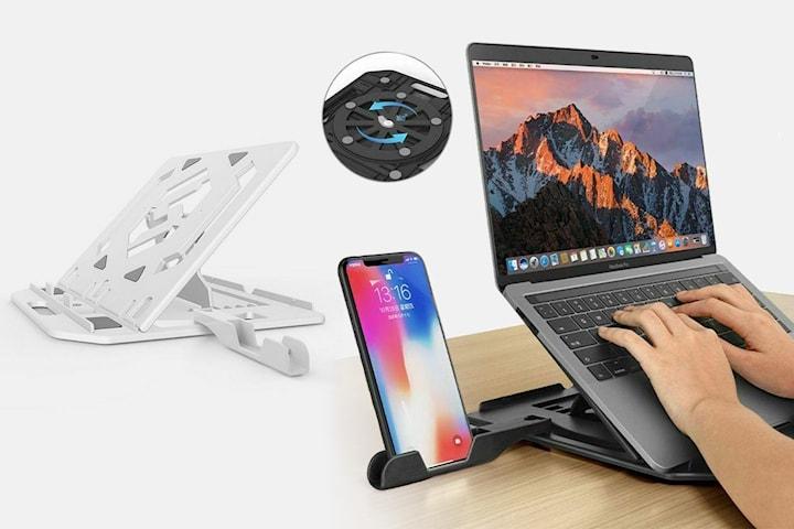 3-i-1 hopfällbart laptopställ