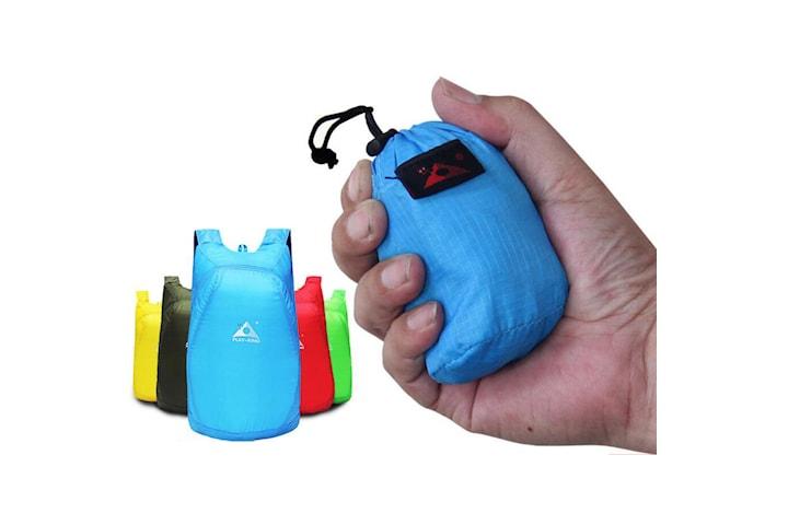 Kompakt vikbar vattentät ryggsäck