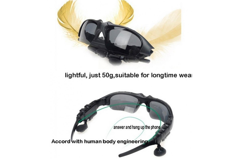 Sportglasögon med in-ear-headset