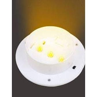 Varm Hvit, White Shell, 3-LED Solar Gutter Light, Soldrevet LED-lys til takrenne, ,