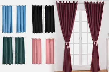Mörkläggande gardiner 2-pack