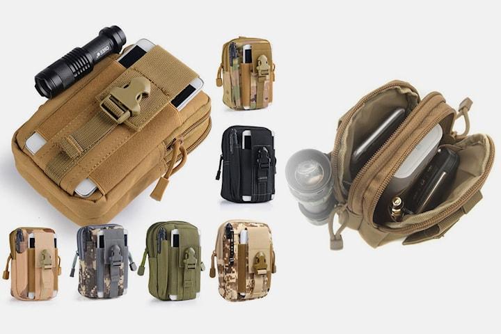 Vattentät liten väska med flera fickor