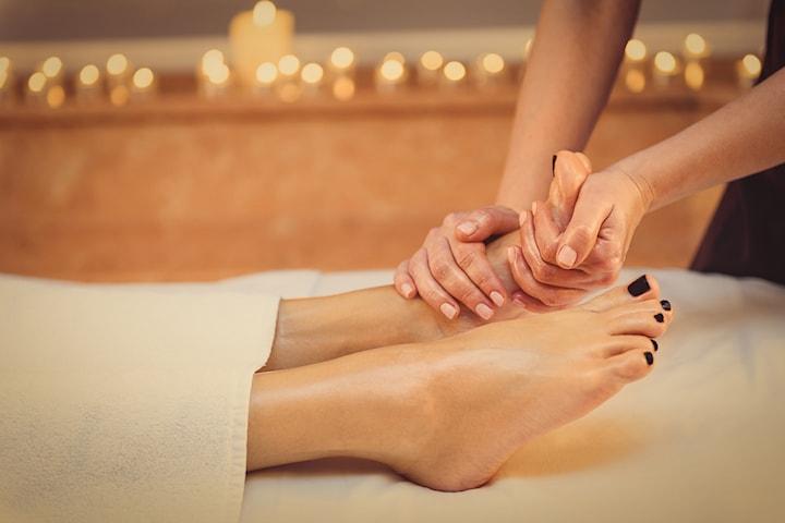 Fotbad och fotmassage