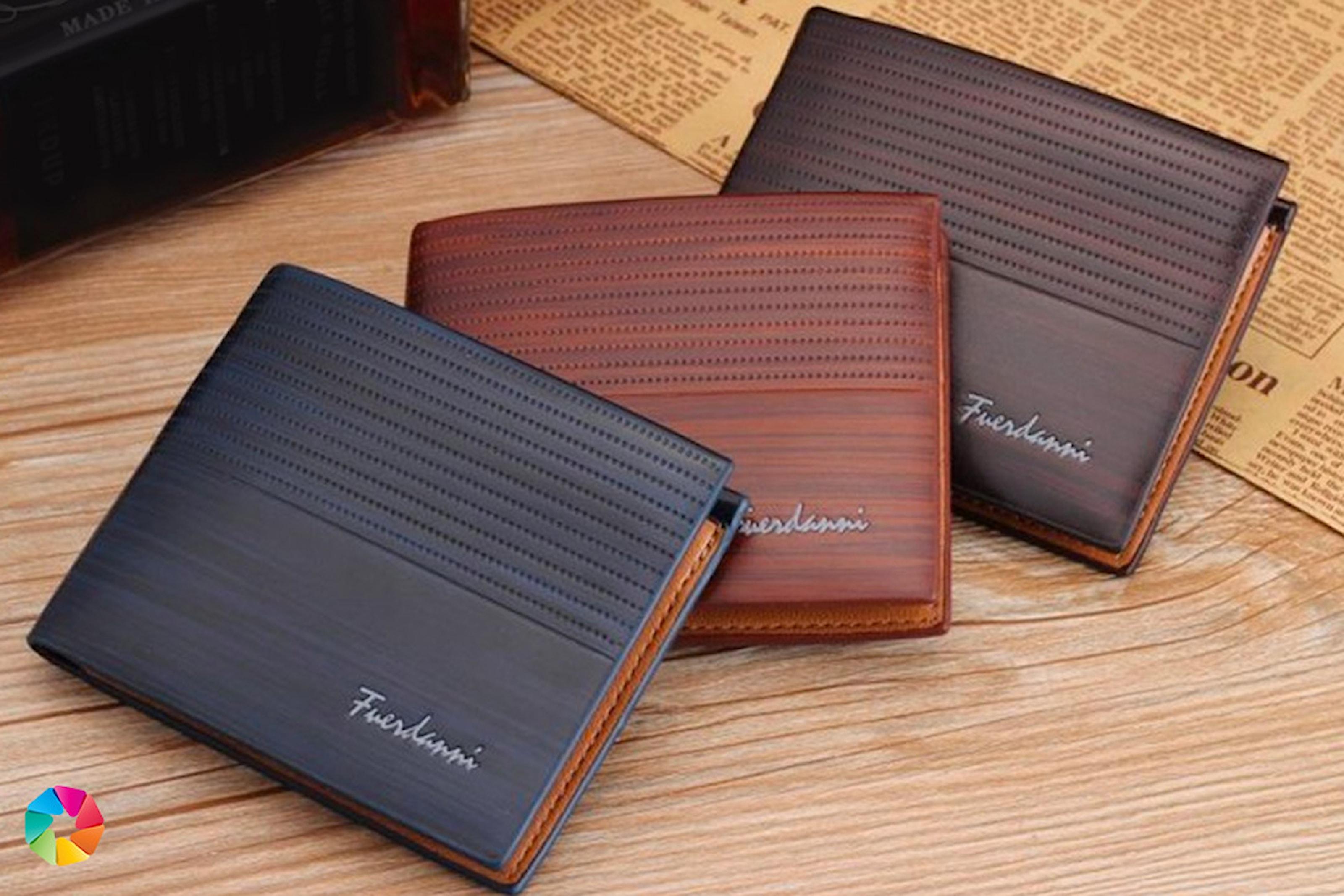 Klassisk plånbok i PU-läder