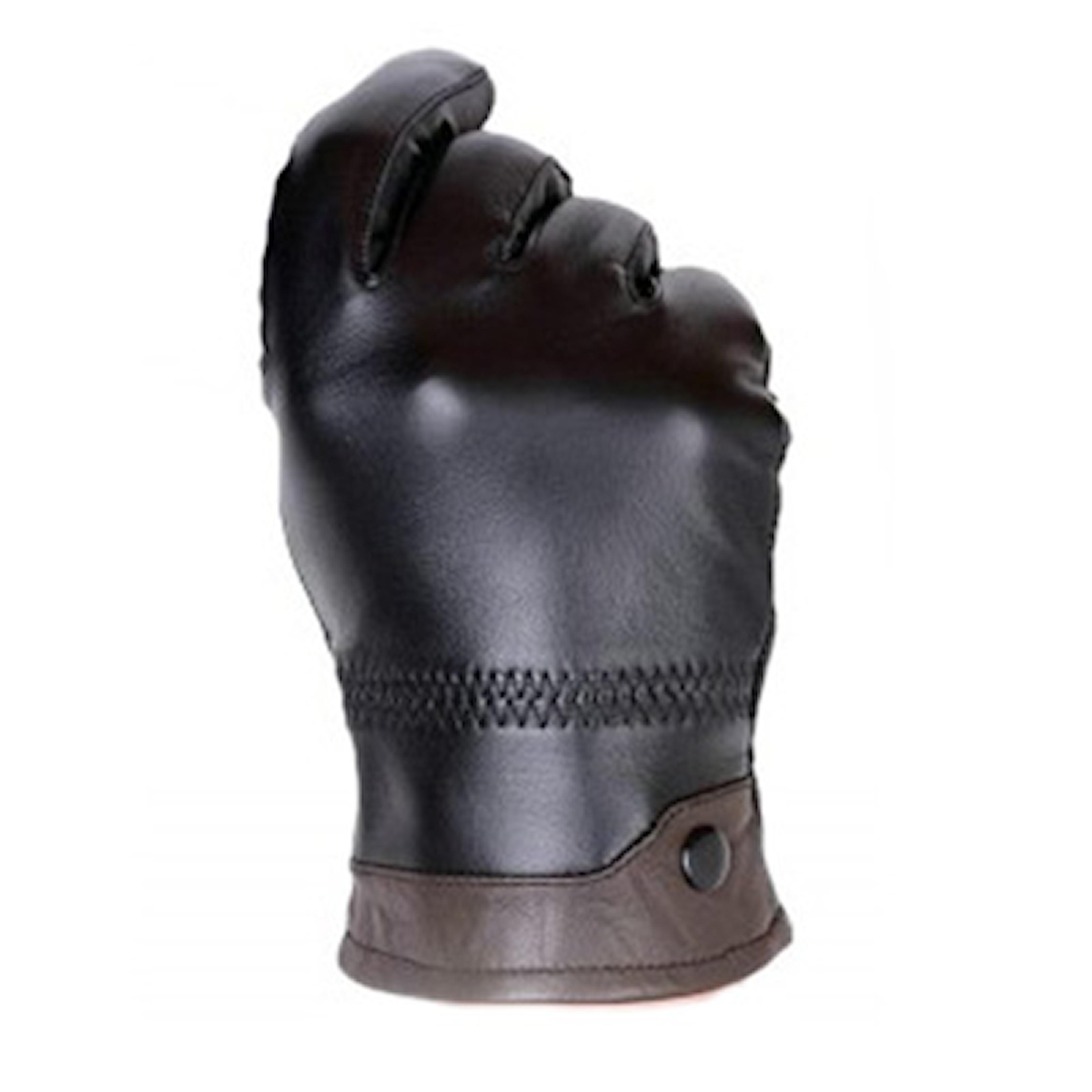 Svart/Kaffe, XL, Genuine Leather Gloves, Fårskinnshandskar, ,