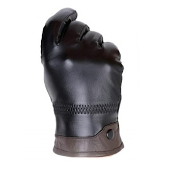 Svart/Kaffe, XL, Genuine Leather Gloves, Fårskinnshandskar, ,