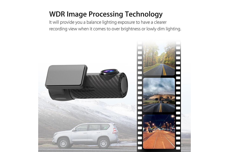 Dashcam 140° med Wi-Fi og full HD