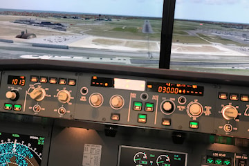 Airbus A320 flygsimulator hos FlyBy AB