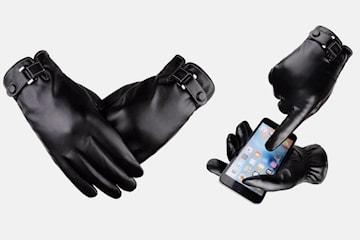 Touch-handskar i läder herr