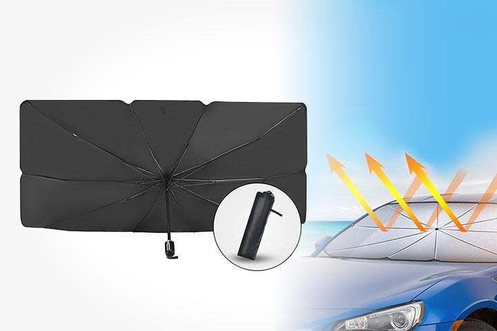 Solskydd-paraply för bil