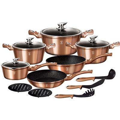 Rosè Gold, Berlingerhaus 15-pcs Cookware Set, Köksset 15 delar,  (1 av 1)