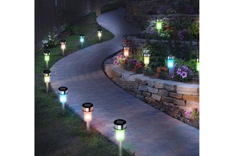 Trädgårdsbelysning med solpanel 10-pack