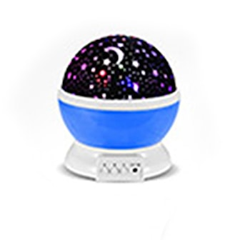 Blå, Night Lamp with Rotating Star-Sky, 3 Colors, Nattlampa med stjärnhimmel, ,