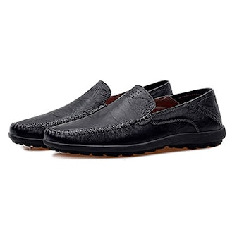 Svart, 40, Mens Shoes Leather Loafers, Loafers herr, ,