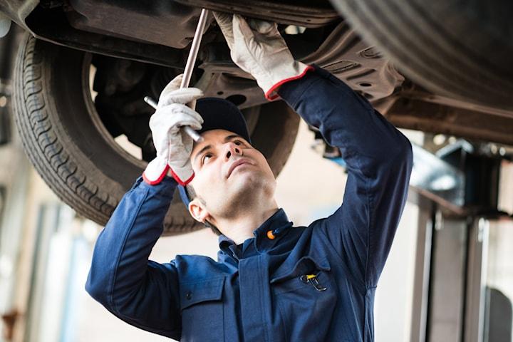 Byte av kamremsats och vattenpump hos RF Bilservice