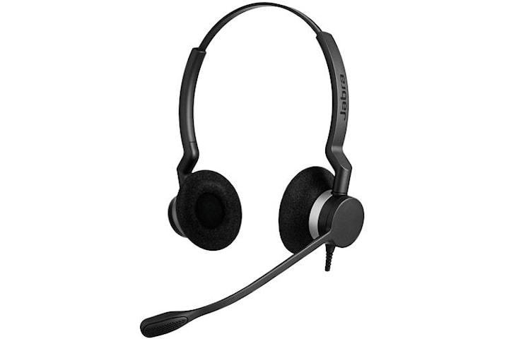 Jabra Biz 2300 QD Duo Siemens, Headset, Huvudband, Kontor/callcenter, Svart, Binaural, 1,075 m