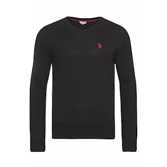 Lysegrå, 3XL, US Polo V-Neck Pullover, US Polo V-Neck pullover, ,