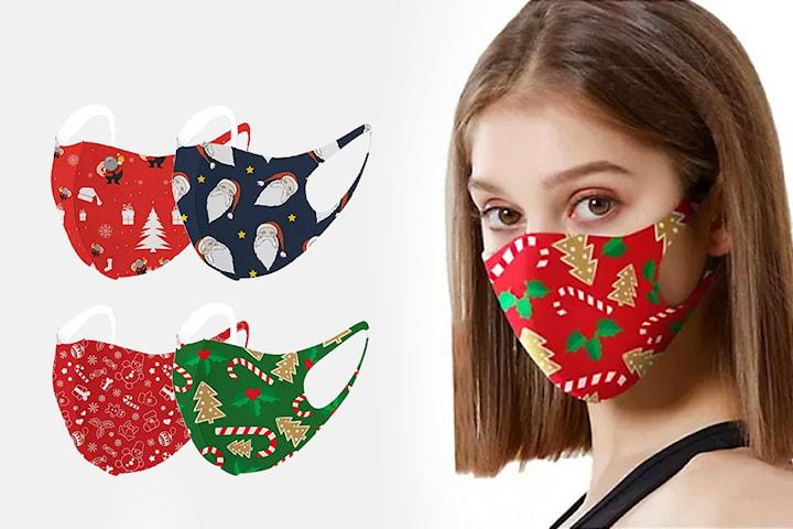 Ansiktsmask med julmotiv 5-pack
