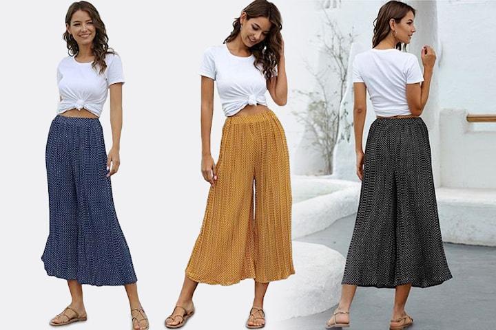 Bukser med brede ben