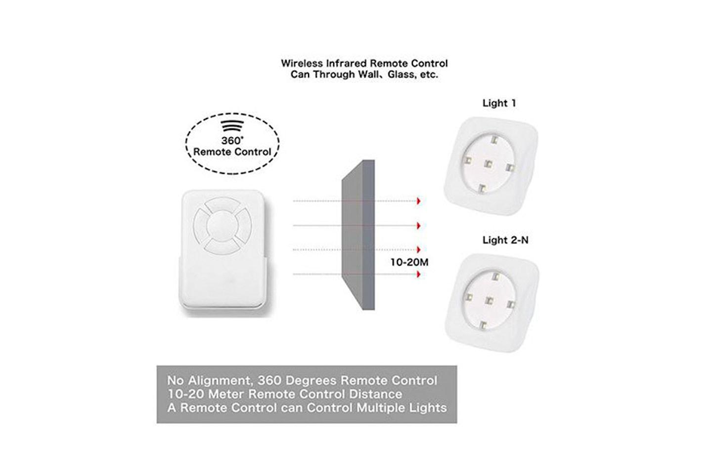 3-pack batteridrevne LED-spotter med fjernkontroll