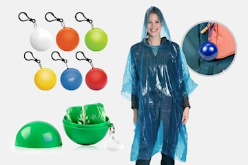Regnponcho med luva 4-pack