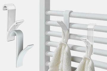 Krokar för handduksradiator 4-, 8- eller 12-pack