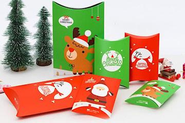 Presentförpackning med julmotiv 10-pack