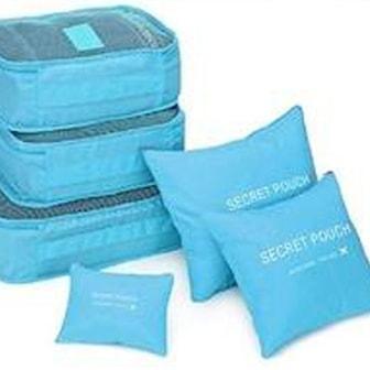 Blå, 6x luggage storage, 6 x förvaring till resväska, ,