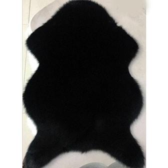 Svart, Artificial Sheepskin Carpet, Kunstig saueskinn, ,