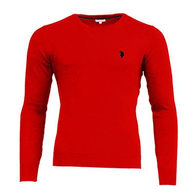 Röd, XL, US Polo V Neck Pullover, US Polo v-ringad tröja, ,  (1 av 1)