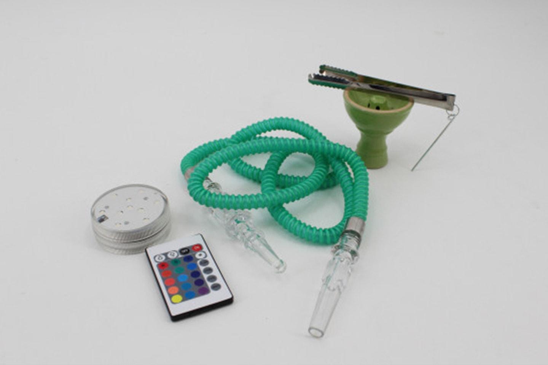 Vattenpipa med LED-ljus och fjärrkontroll