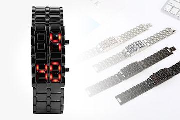 Digital klokke med LED-lys
