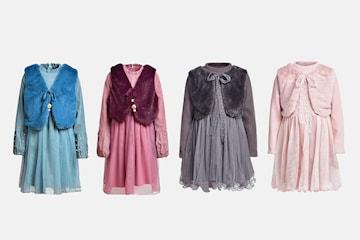 Prinsessklänning med med meshkjol och väst