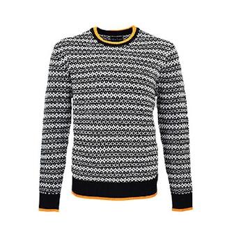 Svart, L/XL, Man, Nielsen & Christensen Knit Man & Lady Sweater, Ullgenser fra Nielsen & Christensen, ,