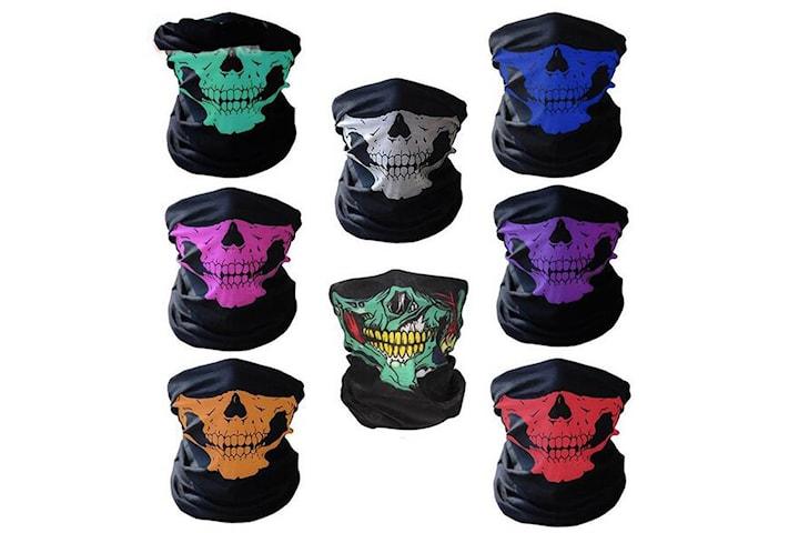Skelett Mask / Scarf / Halsduk - Halloween - Skeleton Mask