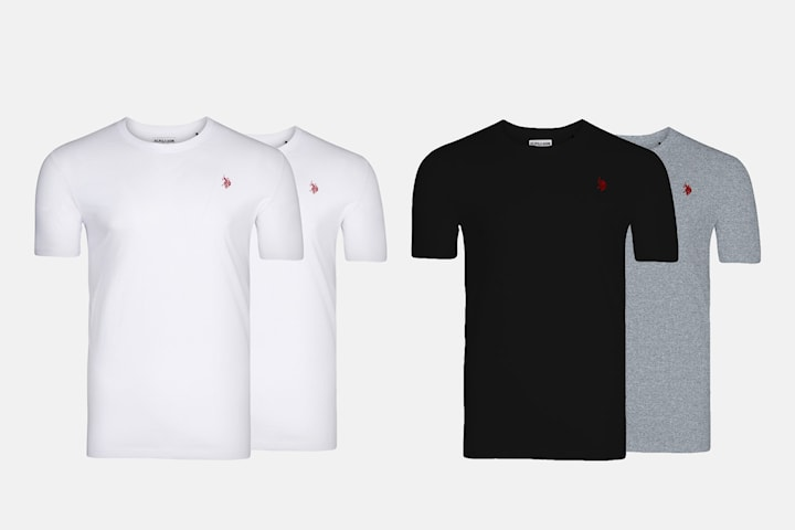 US Polo t shirt 2 pack
