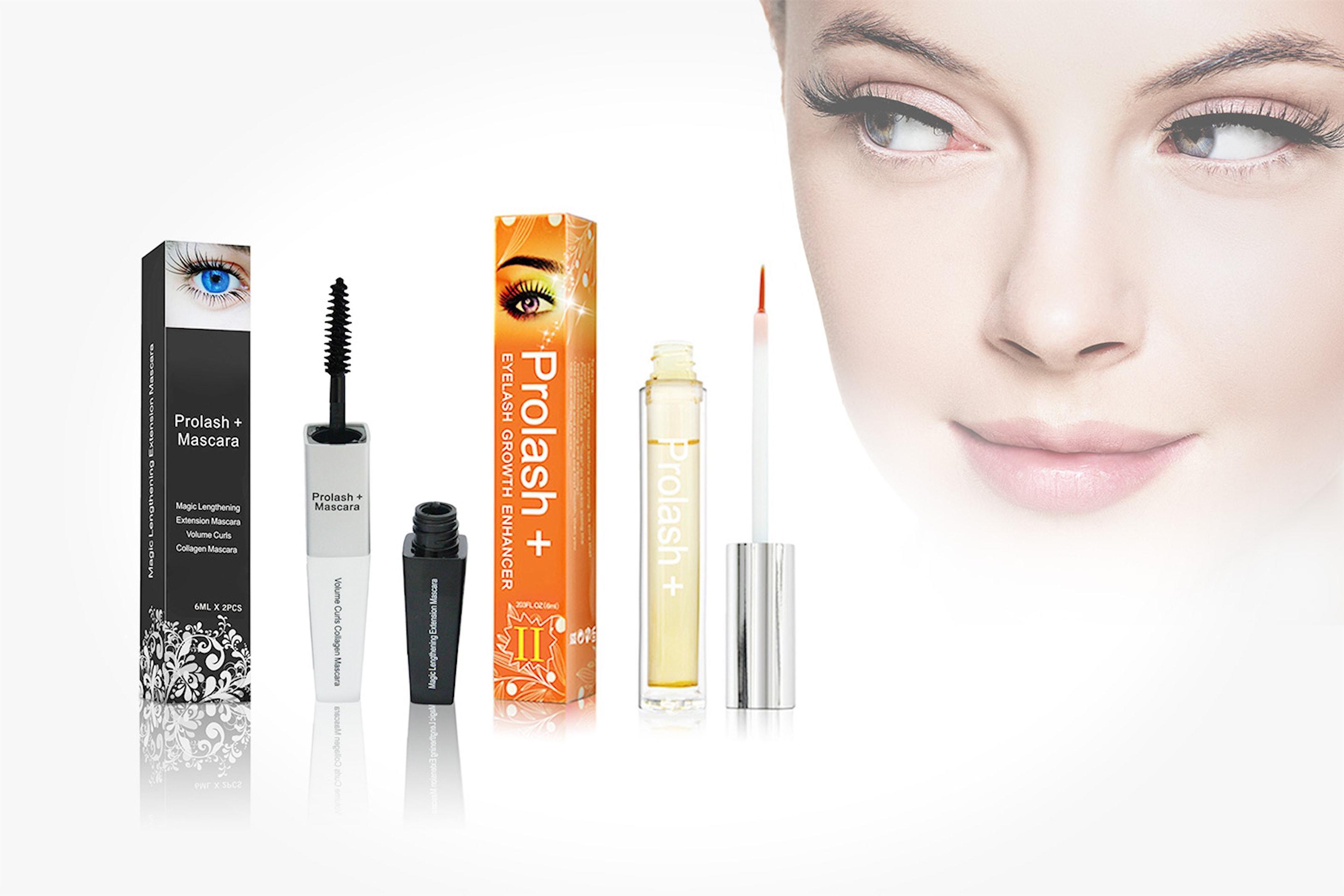 För längre fransar: Serum- & mascara-kit