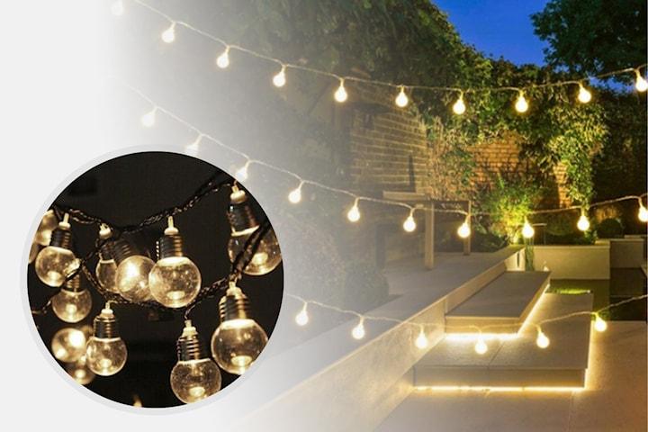 LED-ljusslinga med solceller