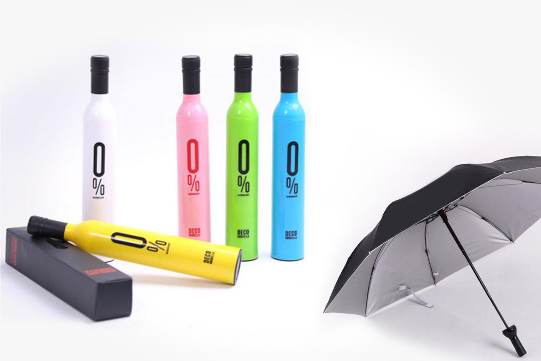 Paraply med fint flaskfodral (1 av 20)