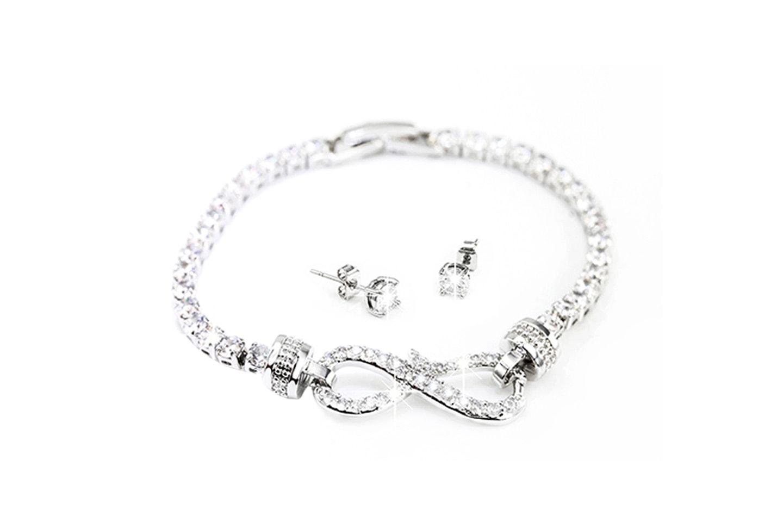 Armband och örhängen med Swarovski Elements