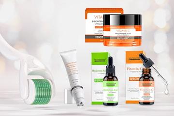Få hudfornyelse, jevnere hud og glød med dermaroller og bestselgende serum