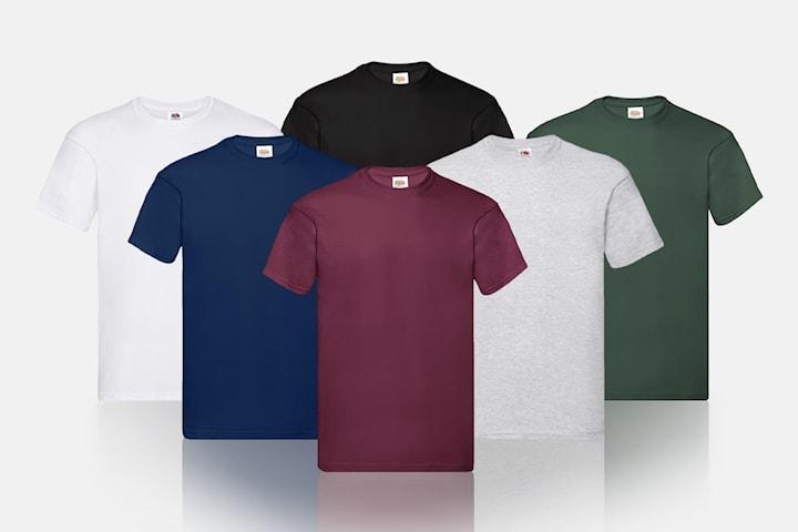 T-skjorte fra Fruit of the Loom 6-pack