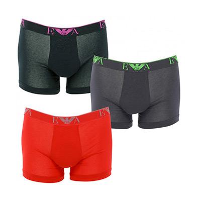 Svart, Rød, Grå, L, Armani Boxers, 3-pack, Armani boxershorts 3-pack,  (1 av 1)