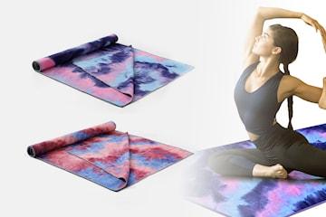 Yogamatta med glidskydd