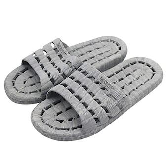 Grå, 44-45, Waterproof Slippers (Shower Shoes), Vattentäta tofflor, ,