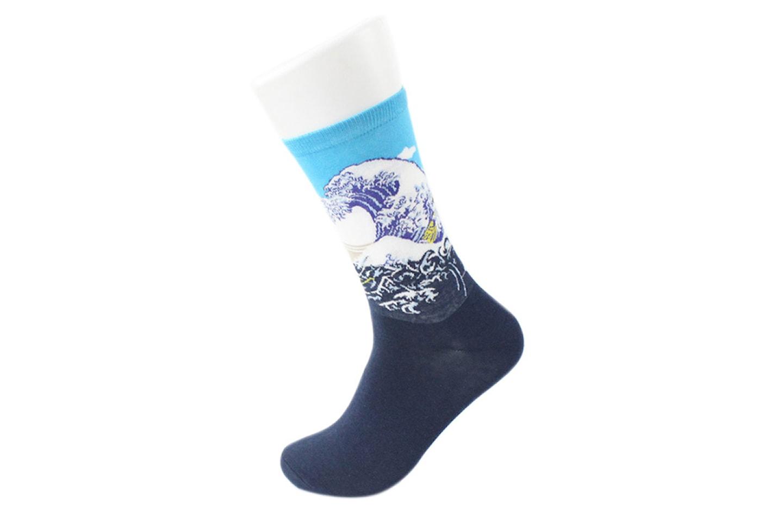 Sokker med maleriprint, 3, 6 eller 12 par