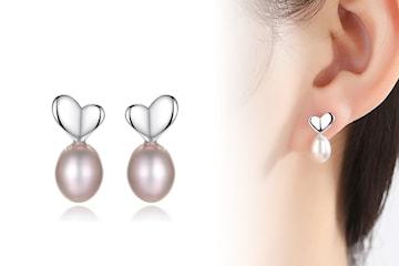 Eleganta pärlörängen i silver